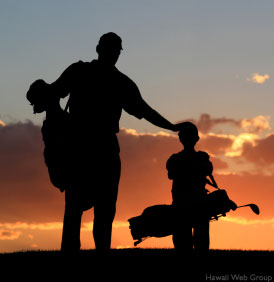 golfing Maui
