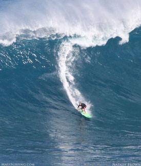 surfing Jaws Maui