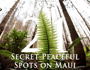 21 secret peaceful spots on maui
