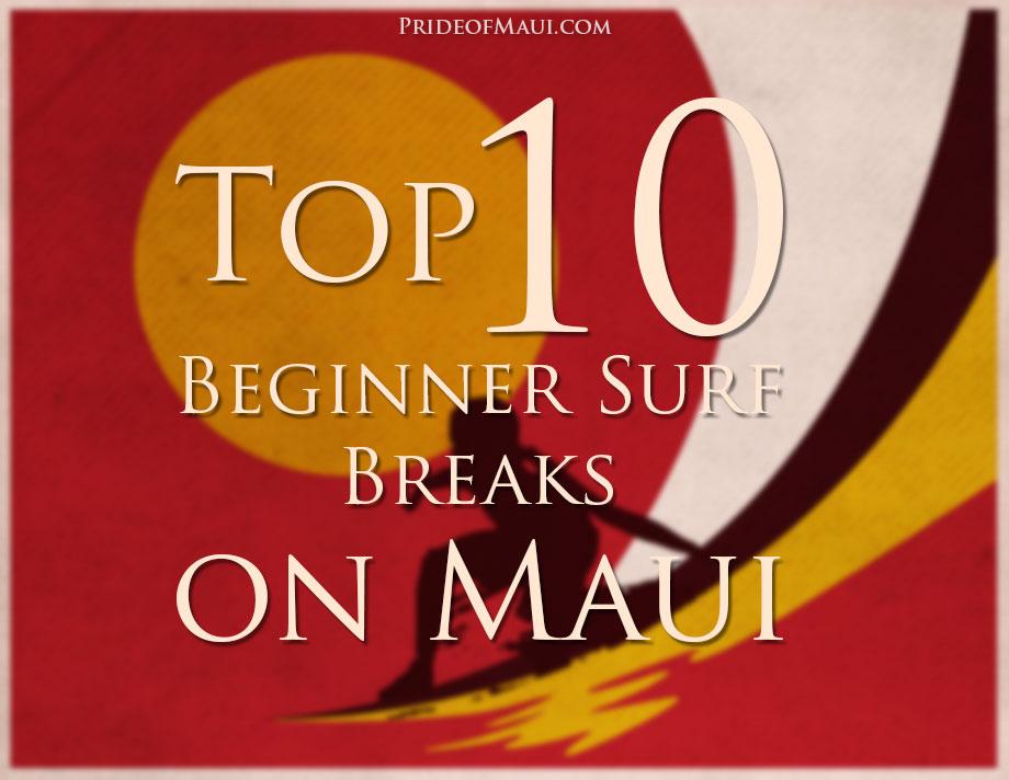 top 10 beginner surf breaks on maui