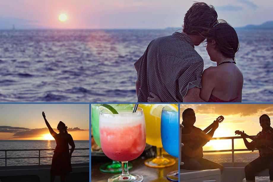 drinks, music and sunsets aboard the pride of maui