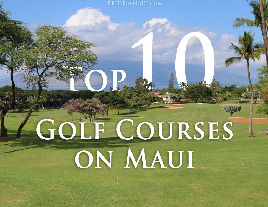 10 best golf courses on maui infographic