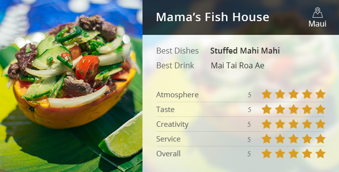 The best hawaii restaurants to eat at top 10 hawaii for Mamas fish house maui menu