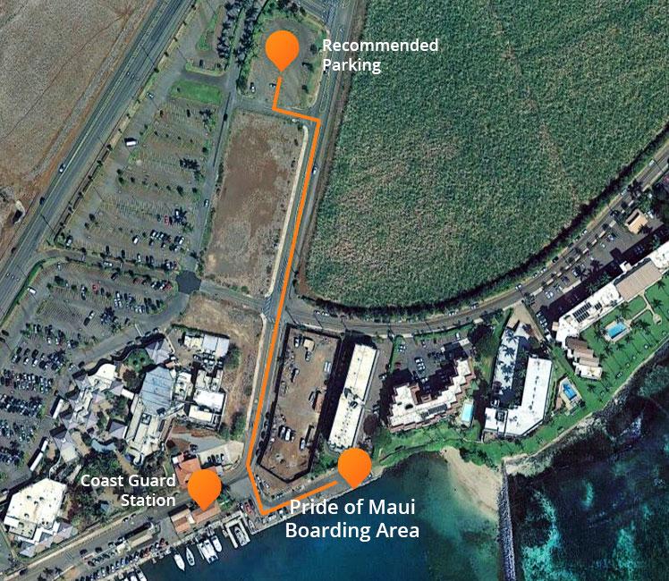 Boarding map Pride of Maui