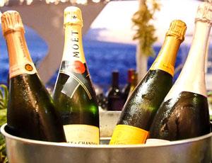Bucket of Champagne Bottles
