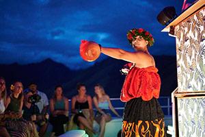 Polynesian dance on Valentine's Cruise